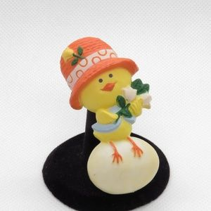 Chick Chicken Egg Easter Pin Brooch Hallmark Vtg